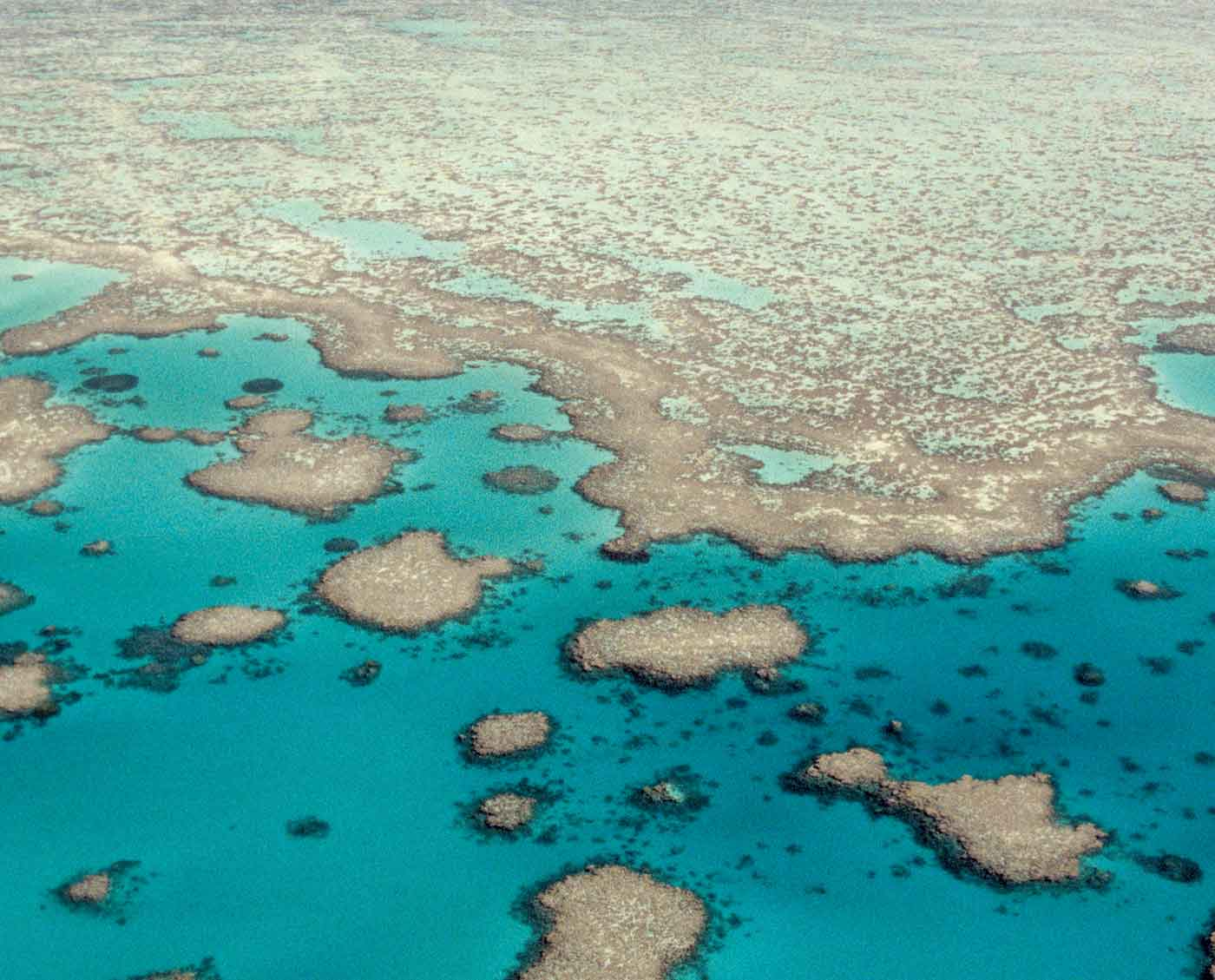 Aerial view of Great Barrier Reef World Heritage Area.