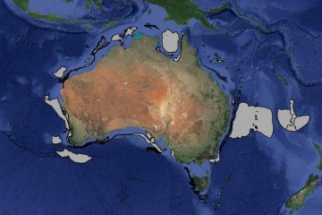 Map of Australia showing pressure areas.